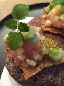 snack 3: makreel | groene appel | toast van pijnpitten