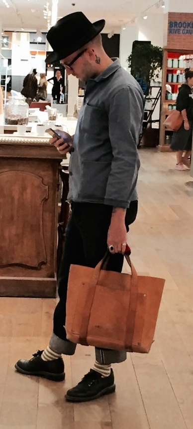 gespot: hipster in Le Bon Marché